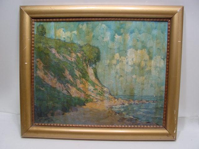 GC208/ Wilhelm Tilsch Ölbild auf Platte / Karton Insel Rügen