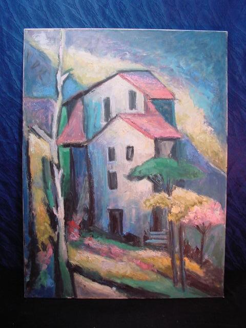 GB284/ Bild Moderne Malerei Häusermotiv