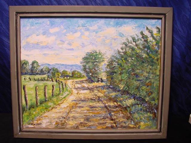 GB448/ Ölbild 2 Seiten W.Almstädt Landschaft