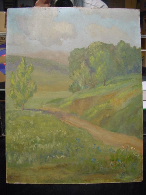 GB388/ kl. Oel Bild Landschaftsmalerei