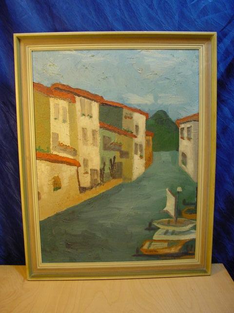 G486/ Naive Malerei Kimpel, Motiv: Venedig