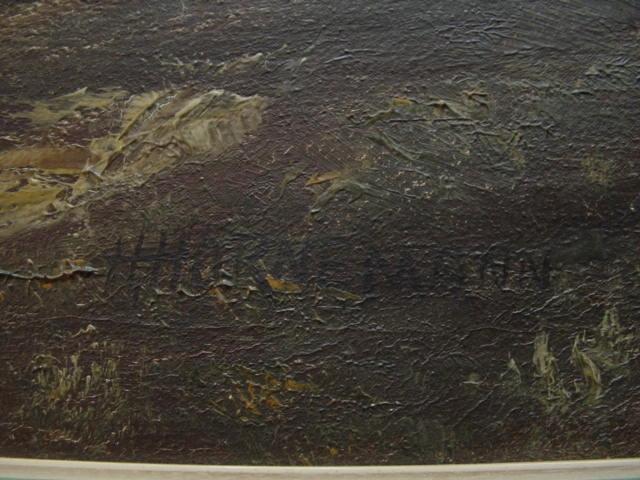 G499/ Ölgmälde von Hans Adolf Hornemann Waldmotiv 1