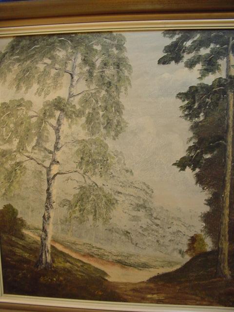 G499/ Ölgmälde von Hans Adolf Hornemann Waldmotiv 7