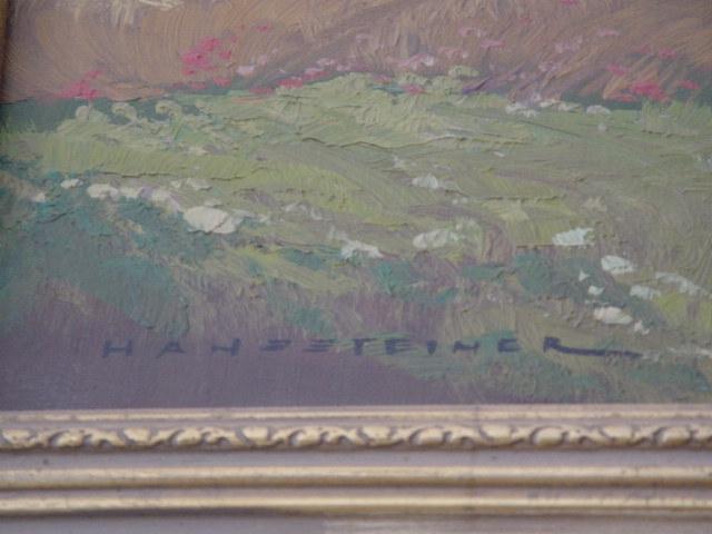 G276/ Gemälde, Birkenlandschaft Hans Steiner 2