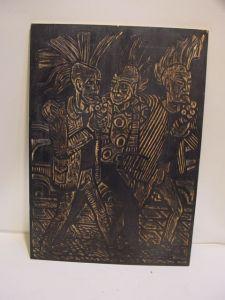 E393/ Holzschnitt Punker Original Tafel