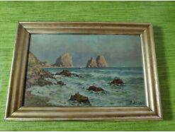 E143/ Kleines Gemälde Küstenlandschaft