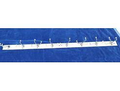 E180/ alte Garderobenleiste Garderobe aus Metall 8x 3 Haken