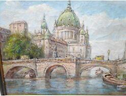 E193/Öl-Bild Gemälde Kgl. Schloss Berlin Bolesta 1