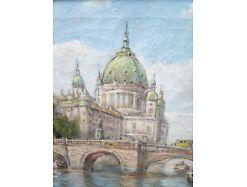E193/Öl-Bild Gemälde Kgl. Schloss Berlin Bolesta 2