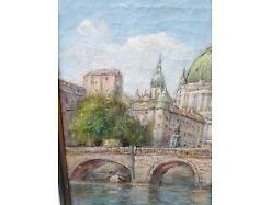 E193/Öl-Bild Gemälde Kgl. Schloss Berlin Bolesta 4