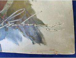 E218/ Blumenbild Ölgemälde Signatur Heinz Surwehme *1923 Wuppertal 7