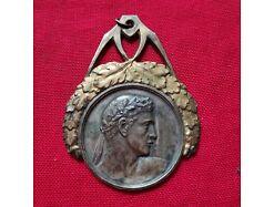 E253/ Jugendstil Medaille silber Sport
