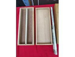 E250/ 2x Diakasten Holz, je 100 Dias