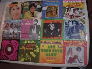 E470H/ Vinyl Single je 12 Stk aus Sammlung Schlager Mix Michael Holm usw...