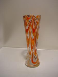 E424/ große 70 er Jahre Vase Glasvase