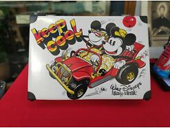 E274/ Vintage alter Micky Maus Mickey Mouse Minnie Koffer Keep Cool
