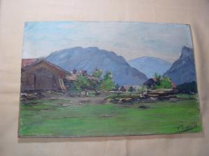 GB52/Berglandschaft Ölbild