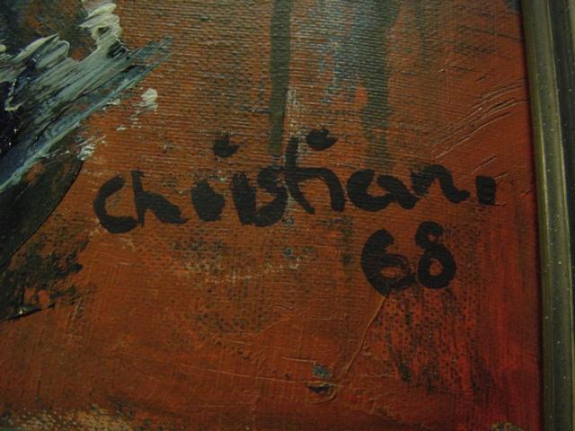 G794/ Oelmalerei Abstrakte Kunst Christian 68 1