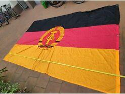 Große DDR Fahne , Fund aus DDR Bestand, 210 x 350 cm