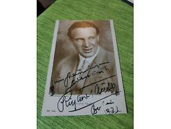 Starpostkarte Richard Tauber Autogrammkarte signiert beschnitten