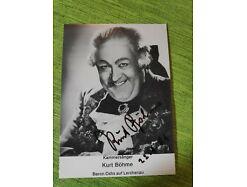Kurt Böhme Autogrammkarte Original Signiert