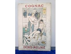 E297/ Altes Plakat-Werbung- Cognac Denis Mounie