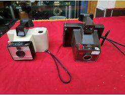 E346/ Vintage - alte Polaroid Land Camera Zip und Swinger Modell 20 1