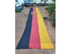 E282x/ Große DDR Fahne , Fund aus DDR Bestand, beschädigt 720 x 150 cm