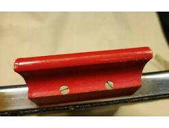 E417/ Tablett Serviertablett Glastablett Metallrahmen 60er 2