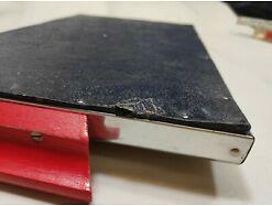 E417/ Tablett Serviertablett Glastablett Metallrahmen 60er 3