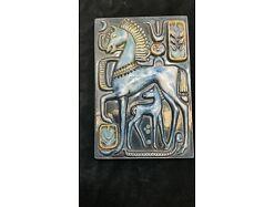 E473/Wandrelief Wandbild Keramik Fische Kunst Im Raum Riesa 70er