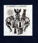 1780 - Reichsgrafen v. Migazzi Kupferstich Wappen coat of arms Heraldik
