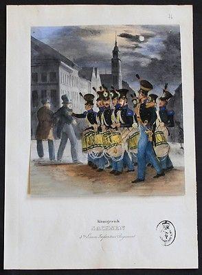 1835 - Sachsen Saxony Uniformen uniforms Lithographie lithograph