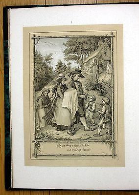 1853 Hieronymus Baar und Schwarzwald Lucian Reich Nepomuk Heinemann Lithographie