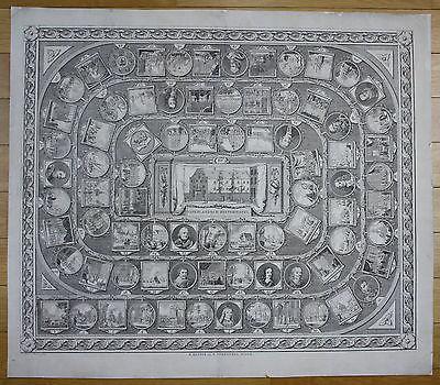 1787 Würfelspiel Spiel board game ganzenspel jeu de l'oie gioco dell'oca gravure