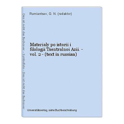 Materialy po istorii i filologii Tsentralnoi Azii. - vol. 2 - (text in russian)
