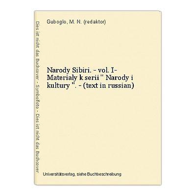 Narody Sibiri. - vol. I- Materialy k serii