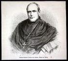 Ca. 1880 Wilhelm Emmanuel von Ketteler Bischof Portrait Holzstich antique print