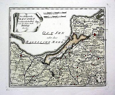 Königsberg Kaliningrad Karte.Ca 1790 Danzig Gdansk Kaliningrad Königsberg Poland Polska Map Karte Reilly