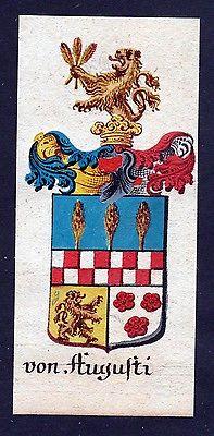 18. Jh - von Augusti Böhmen Wappen coat of arms Manuskript
