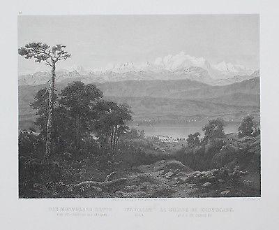 1870 - Mont-Blanc-Gruppe Kanton Waadt Massif du Mont-Blanc Vaud Stahlstich