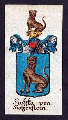 18. Jh - Kozka von Kotzensteyn Böhmen Wappen coat of arms Manuskript