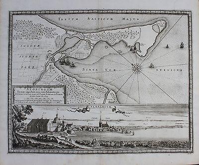 1696 - Nyborg Danmark Dänemark Denmark Kupferstich engraving Pufendorf
