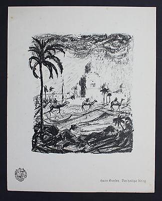 Hans Gerson holy war Heiliger Krieg guerre Lithographie Berliner Secession