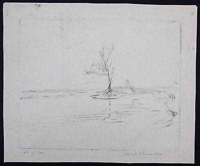Carl Bender - Original Radierung signiert - München Landschaft etching signed
