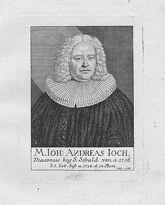 18. Jh. Johann Andreas Joch Diakon St. Sebald Sebalduskirche Nürnberg Portrait