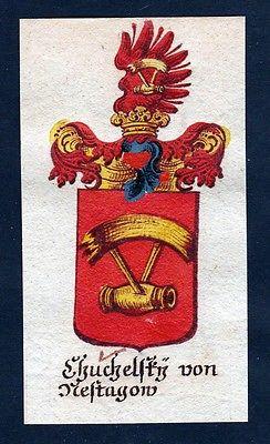 18. Jh - Chuchelsky von Mestagau Böhmen Wappen coat of arms Manuskript