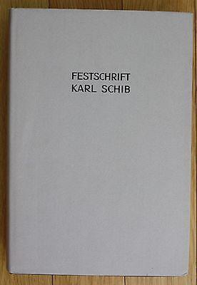 1968 Historischen Verein des Kantons Schaffhausen Festschrift Karl Schib Schweiz