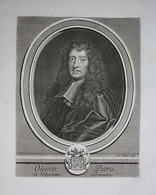 1750 - Olivier Patru Jurist Romanist Frankreich France Kuperstich Portrait