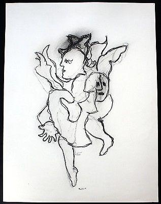 1983 - Michel Faublee - Original Zeichnung drawing signiert signed